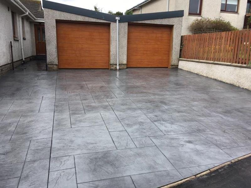Printed Concrete Driveway >> Pattern Imprinted Concrete